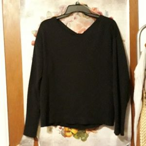 Open knotted back sweater